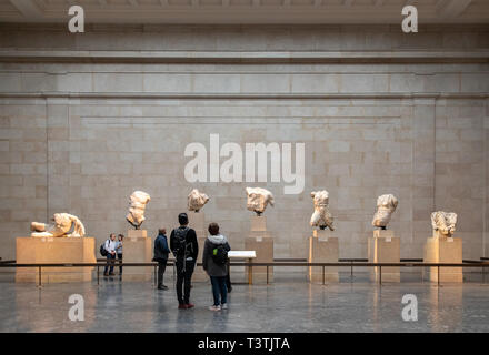 Elgin Marbles, British Museum - Stock Photo