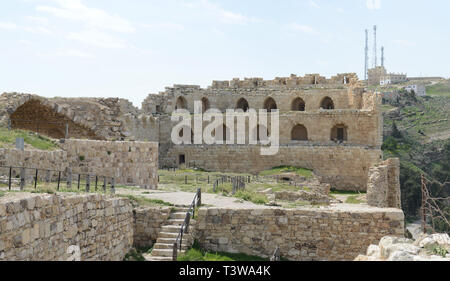 Kerak castle in Southern Jordan. - Stock Photo
