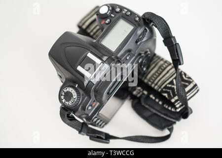 The top of a DSLR professional camera - Stock Photo