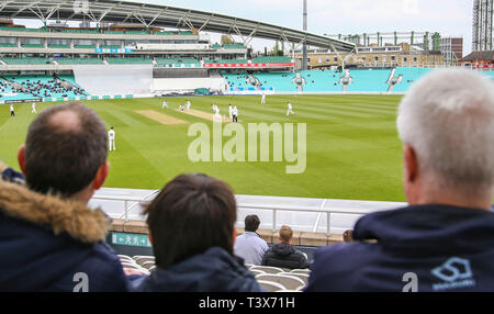 London, UK. 12th Apr 2019. A general view during the Surrey v Essex, Specsavers County Championship Division One match at The Kia Oval. Credit: Mitchell Gunn/ESPA-Images/Alamy Live News - Stock Photo