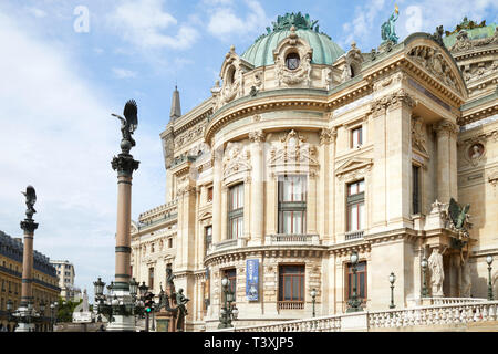 PARIS, FRANCE - JULY 22, 2017: Opera Garnier building back part in Paris in a sunny summer day in France