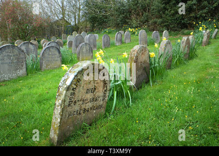 Pales Meeting House Quaker burial ground, Radnorshire, Wales - Stock Photo