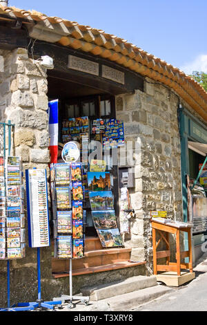 CARCASSON, FRANCE - JULY 7, 2016: Souvenir shop in fortress - Stock Photo