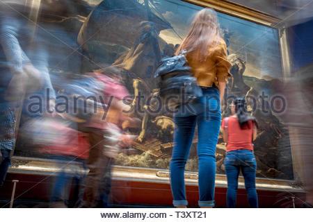 The Raft of the Medusa (Théodore Géricault), Louvre Museum. August 26, 2018, Paris, France. Le Radeau de La Méduse (Théodore Géricault), Musée du Louv - Stock Photo
