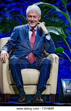 November 28, 2018 - Montreal, Canada: Bill Clinton at the An Evening With The Clintons event. (David Himbert/Polaris) - Stock Photo
