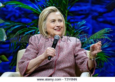 November 28, 2018 - Montreal, Canada: Hillary Clinton at the An Evening With The Clintons event. (David Himbert/Polaris) - Stock Photo