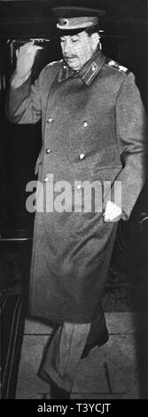 Joseph Stalin arriving at the Yalta Conference - Stock Photo