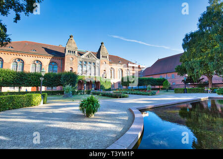 Copenhagen, Denmark-3 August, 2018: Copenhagen Danish Jewish Museum building inside the Danish Royal Library old Galley House and exhibits Danish Jewi - Stock Photo