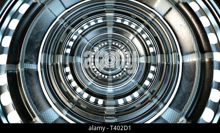 Abstract circle technical and futuristic shape. High quality circle technological and futuristic gate. 3d rendering.