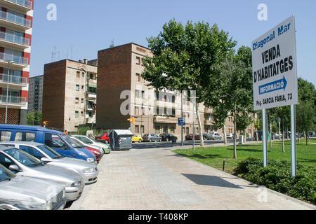 Newly built buildings, City 22 urban project, Barcelona, Catalonia, Spain - Stock Photo