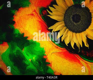 DIGITAL ART: Floral Dance 005 - Stock Photo