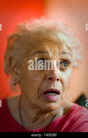 senior African American woman in her home - Stock Photo