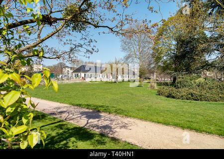 Bonn - View to  Poppelsdorf Castle  with Botanical Gardens of the University of Bonn, North Rhine Westphalia, Germany, 01.04.2019 - Stock Photo