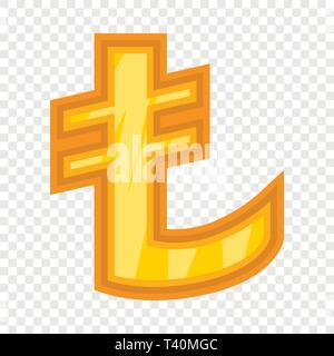 Turkish lira icon, cartoon style - Stock Photo