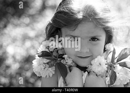 Spring style. Small child. Natural beauty. Childrens day. Springtime. weather forecast. Little girl in sunny spring. Summer girl fashion. Happy - Stock Photo