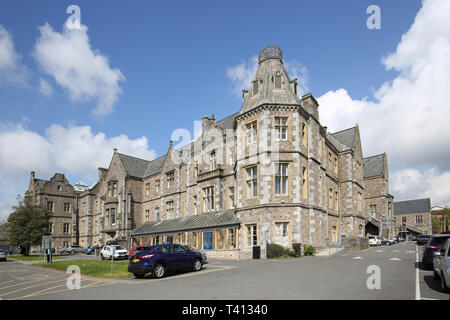 Royal Devon and Exeter Hospital. Shows Wonford House, the original Victorian hospital building now used for mental health services - Stock Photo