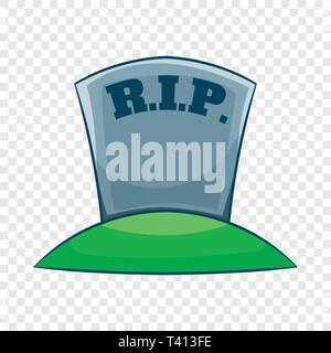 RIP on grave icon, cartoon style - Stock Photo