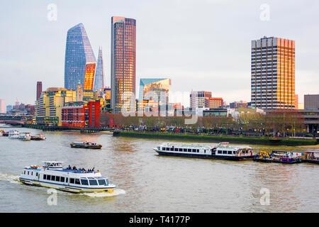 Cityscape with the Shard, London, England, United Kingdom