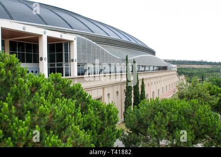 Camp Nou, FC Barcelona Stadium, Barcelona, Catalonia, Spain - Stock Photo