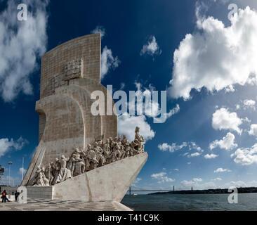 Padrão dos Descobrimentos (Monument of the Discoveries), Belem, Lisbon, Portugal - Stock Photo