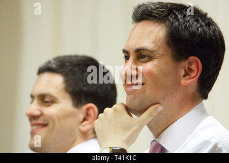 Labour Party leadership hustings take place in South London. David Miliband next to Ed Miliband. 30.06.2010. - Stock Photo