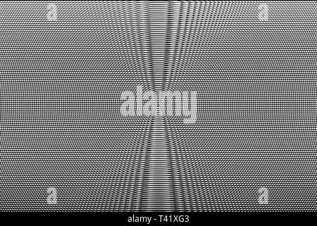 White and black hypnotic optical illusion abstract background. Monochrome glitch texture. - Stock Photo