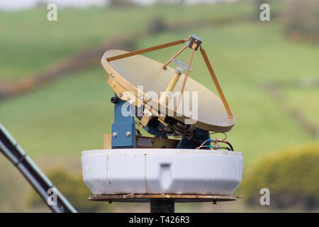 marine radar aerial with cover removed - Stock Photo