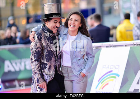 Rust, Germany. 12th Apr, 2019. Singer Namika comes to Europa-Park for the Radio Regenbogen Awards. Credit: Uwe Anspach/dpa/Alamy Live News - Stock Photo