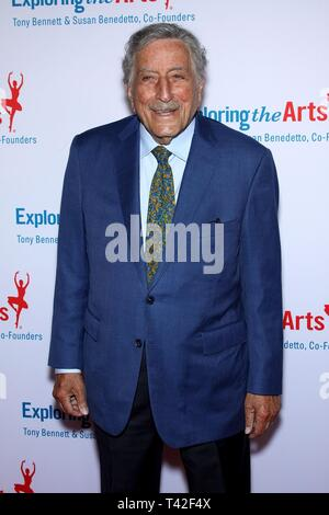 New York, NY, USA. 12th Apr, 2019. Tony Bennett at arrivals for Exploring the Arts 20th Anniversary Gala, Hammerstein Ballroom, New York, NY April 12, 2019. Credit: Steve Mack/Everett Collection/Alamy Live News - Stock Photo