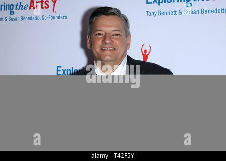 New York, NY, USA. 12th Apr, 2019. Ted Sarandos at arrivals for Exploring the Arts 20th Anniversary Gala, Hammerstein Ballroom, New York, NY April 12, 2019. Credit: Steve Mack/Everett Collection/Alamy Live News - Stock Photo