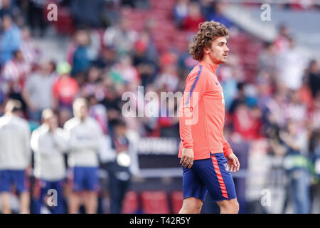 Wanda Metropolitano, Madrid, Spain. 13th Apr, 2019. La Liga football, Atletico Madrid versus Celta Vigo; Antonie Griezmann (Atletico de Madrid) Credit: Action Plus Sports/Alamy Live News - Stock Photo