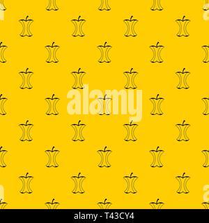 Apple stump pattern vector - Stock Photo