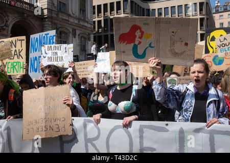 2nd event called by the collective Youth for climate Lyon - Stock Photo