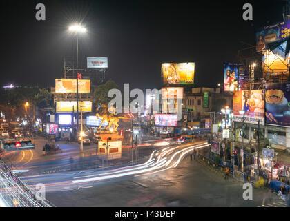 Horizontal aerial view of Shyambazar in Kolkata aka Calcutta, India. - Stock Photo