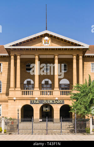 The Supreme Court Judiciary building from KICC square, Nairobi, Kenya - Stock Photo