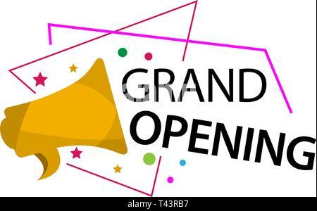 Grand Opening Invitation Card Template Stock Vector Art