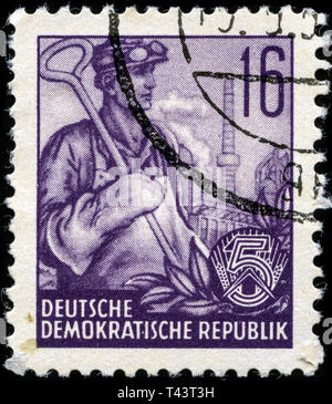 Postage stamp from East Germany (DDR)  in the  series issued in 1957 - Stock Photo
