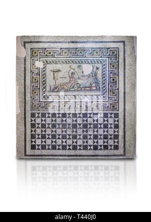 Roman mosaics. The Acratos & Eljprocvne Mosaic from The House of Maenad Zeugma.  2nd - 3rd century AD. Zeugma Mosaic Museum, Gaziantep, Turkey.  Again - Stock Photo