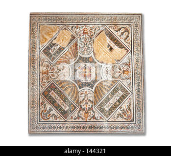 Geometric Roman mosaics from the north African Roman province of Africanus . Bardo Museum, Tunis, Tunisia. - Stock Photo