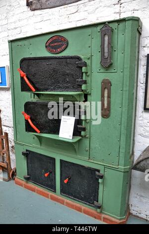 A Garrett Oven in the Long Shop Museum, Leiston, Suffolk, UK - they made this and many other heavy duty items, at the factory. - Stock Photo