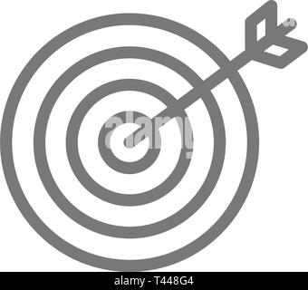 Choice, business goal and target line icon. - Stock Photo