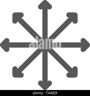 Navigation, traffic, compass, flexibility line icon. - Stock Photo