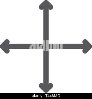 Navigation, traffic and flexibility line icon. - Stock Photo