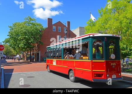 Salem Trolley in historic town Salem, Massachusetts, USA. - Stock Photo