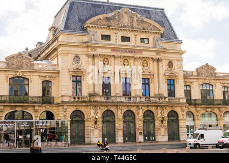 Cherbourg-Octeville, France - August 21, 2018: The Italian Theater in downtown Cherbourg. Normandy France - Stock Photo