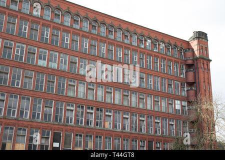 Derelict Historic Belper Cotton Mills in need of urgent repair , Belper Derbyshire.England.UK - Stock Photo