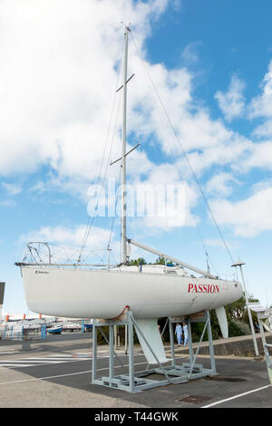 Cherbourg-Octeville, France - August 21, 2018: Sailing boats in marina of the Port Chantereyne at Cherbourg. Cherbourg-Octeville, Normandy, France - Stock Photo