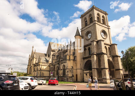 Cherbourg-Octeville, France - August 21, 2018: Basilica of St. Trinity of Cherbourg. Cherbourg-Octeville Normandy France - Stock Photo