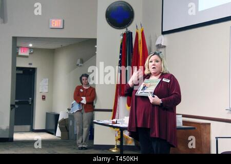 Carrie Olson, program manager of the Family Advocacy Program