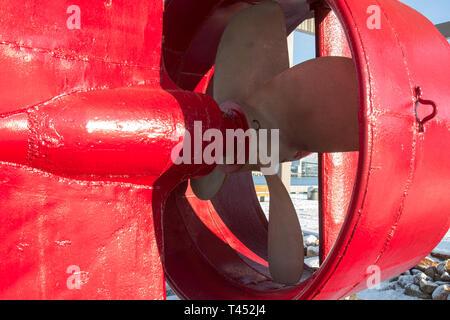 fishing boat propeller - Stock Photo